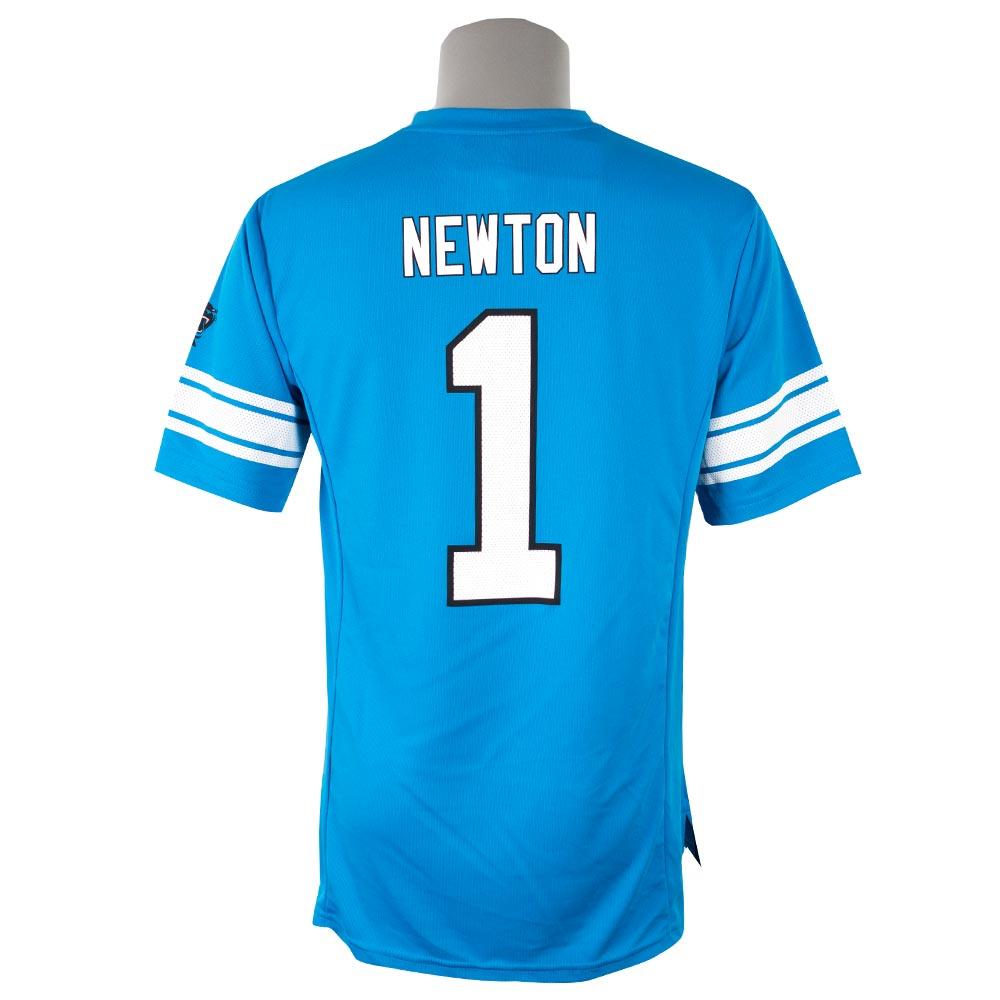 NFL パンサーズ キャム・ニュートン Tシャツ 半袖 ハッシュマーク ネーム&ナンバー マジェスティック/Majestic ブルー