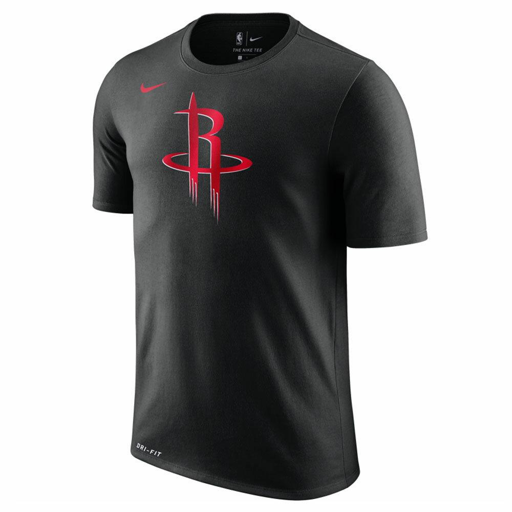 NBA ロケッツ Tシャツ 半袖 ドライフィット コットン ロゴ ナイキ/Nike ブラック