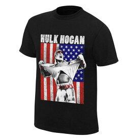 WWE ハルク・ホーガン Tシャツ アメリカンフラッグ ブラック