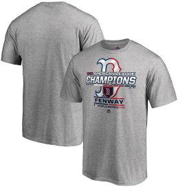 MLB ボストン・レッドソックス Tシャツ 2018 ア・リーグ優勝記念 選手着用 グレー