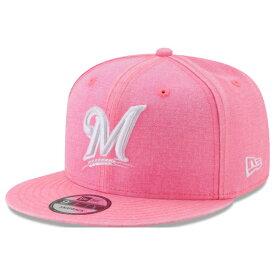 MLB ブリュワーズ キャップ/帽子 パステルカラー ネオンタイム スナップバック ニューエラ/New Era ピンク