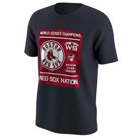 お取り寄せ MLB レッドソックス Tシャツ 2018 ワールドチャンピオン記念 Local ナイキ/Nike ネイビー