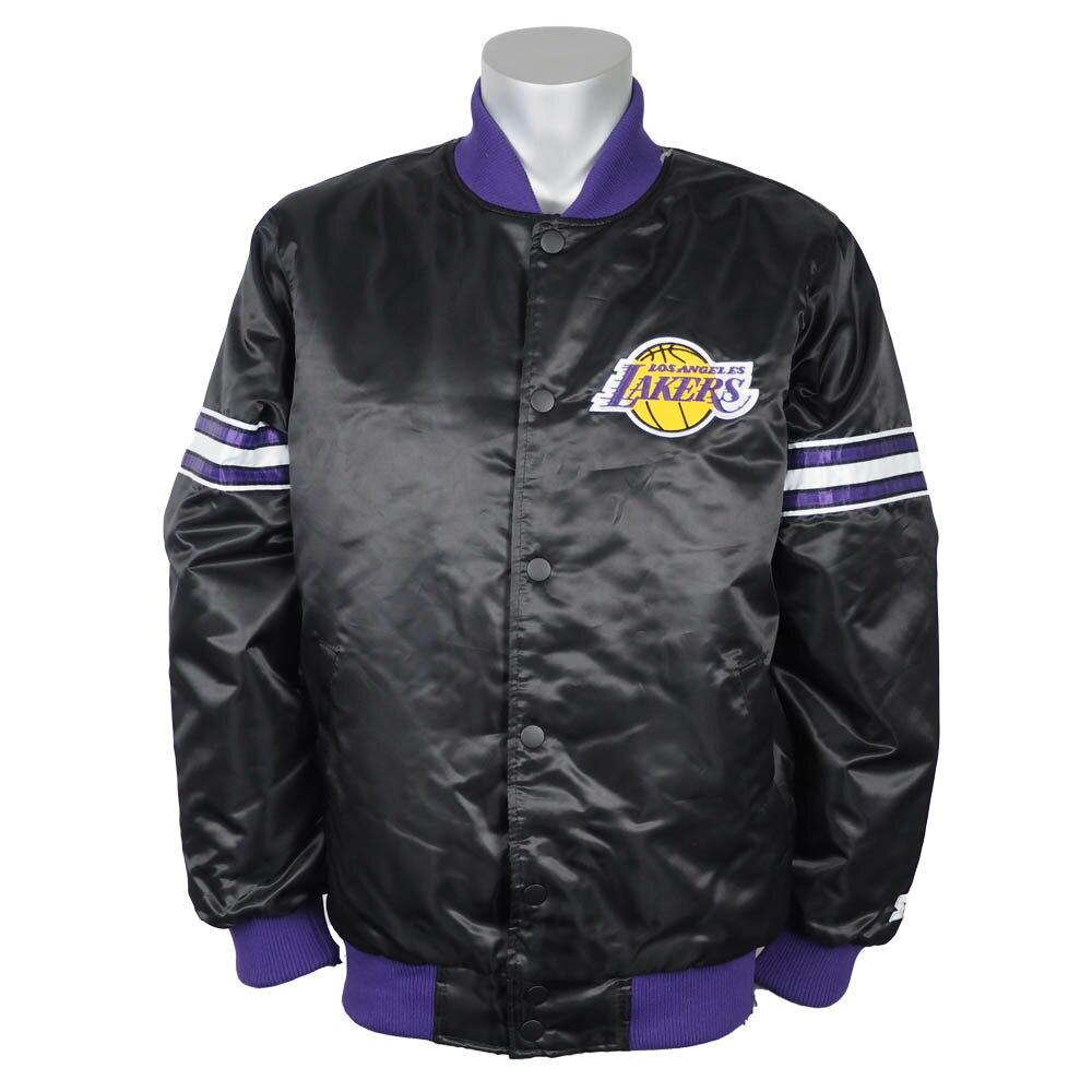 NBA レイカーズ ジャケット/アウター ドラフトピック バーシティ サテン スターター/Starter