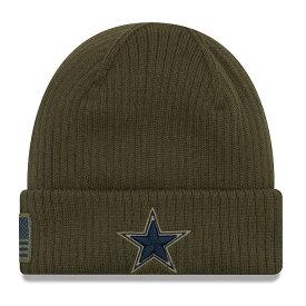 NFL カウボーイズ ニットキャップ/ニット帽 サルート トゥー サービス ニット ハット ニューエラ/New Era オリーブ