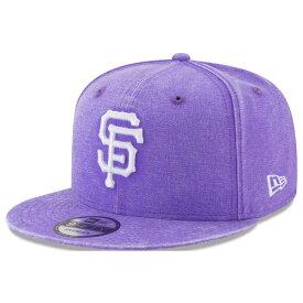 MLB ジャイアンツ キャップ/帽子 パステルカラー ネオンタイム スナップバック ニューエラ/New Era パープル