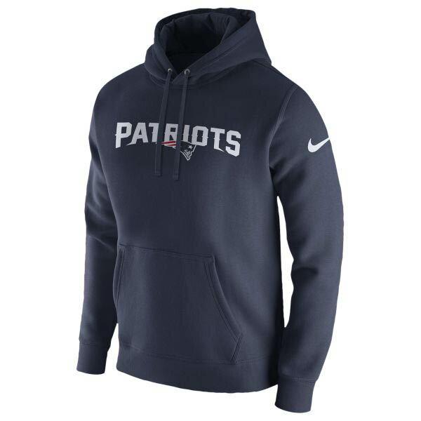 お取り寄せ NFL ペイトリオッツ パーカー/フーディー プルオーバー フリース クラブ フーディ ナイキ/Nike ネイビー