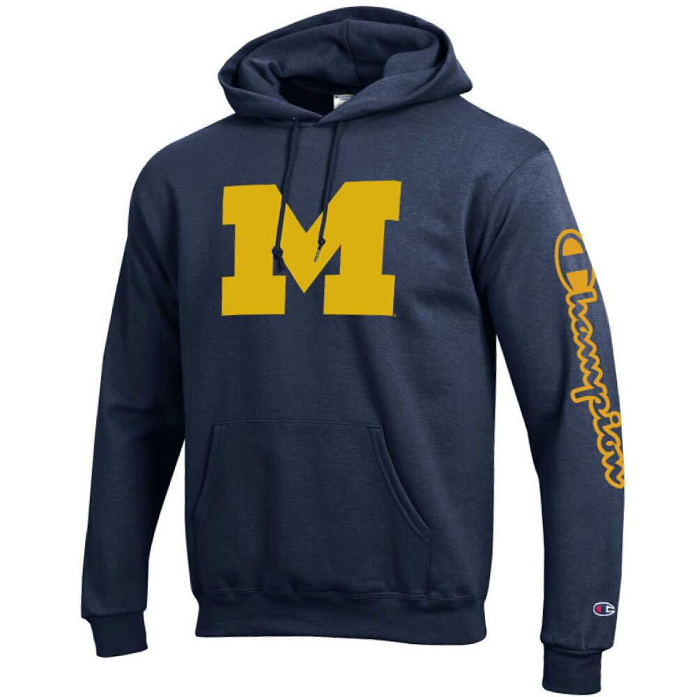 お取り寄せ お取り寄せ NCAA ミシガン大学 ウルバリンズ パーカー/フーディー ブランデッド フーデッド チャンピオン/Champion ネイビー