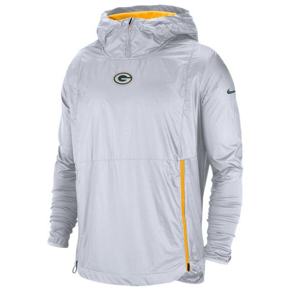 お取り寄せ NFL パッカーズ ジャケット/アウター 選手着用 サイドライン フライ ラッシュ ナイキ/Nike ホワイト