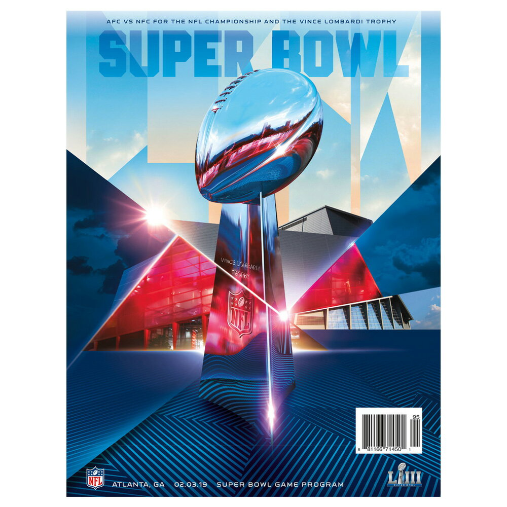 ご予約 NFL 第53回 スーパーボウル オフィシャル プログラム Super Bowl LIII【2月下旬発送】