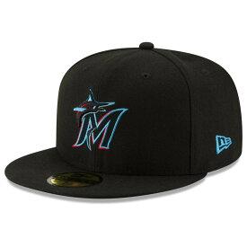 MLB マーリンズ キャップ/帽子 選手着用 オーセンティック オンフィールド ニューエラ/New Era ブラック