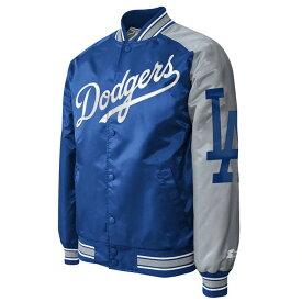 MLB ドジャース ジャケット/アウター ツートーン アーム サテン スターター/Starter ブルー