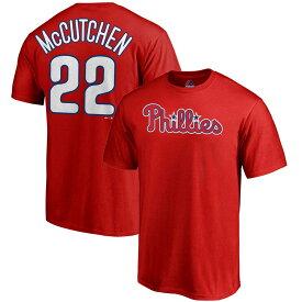 MLB フィリーズ アンドルー・マカチェン Tシャツ プレイヤー ネーム&ナンバー マジェスティック/Majestic レッド