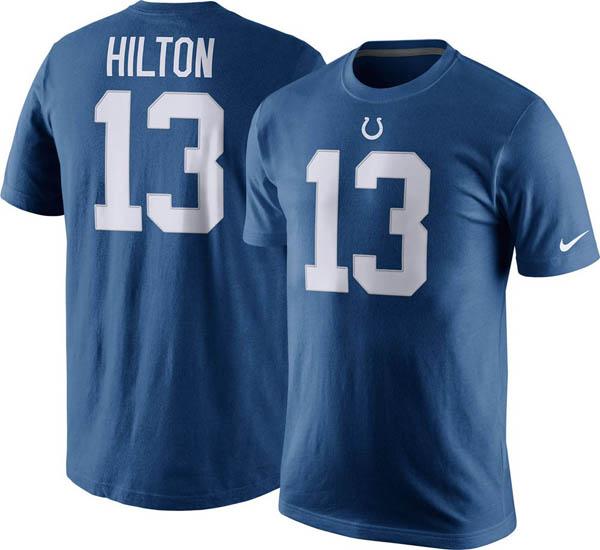 お取り寄せ お取り寄せ NFL コルツ T. Y・ヒルトン Tシャツ プライド ネーム&ナンバー ナイキ/Nike ブルー