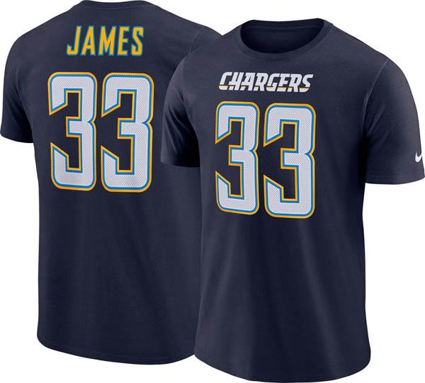 お取り寄せ お取り寄せ NFL チャージャース ダーウィン・ジェームス Tシャツ プライド ネーム&ナンバー ナイキ/Nike ネイビー