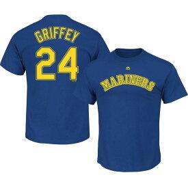 MLB マリナーズ ケン・グリフィーJR. プレーヤー Tシャツ ネーム&ナンバー レトロ マジェスティック/Majestic ロイヤル