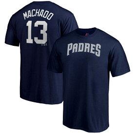 MLB パドレス マニー・マチャド プレーヤー Tシャツ マジェスティック/Majestic ネイビー
