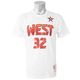 NBA ウエスト シャキール・オニール Tシャツ 2009 オールスターゲーム プレイヤー ミッチェル&ネス/Mitchell & Ness ホワイト