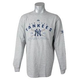 MLB ヤンキース Tシャツ ベースボールクラブ L/S マジェスティック/Majestic グレー