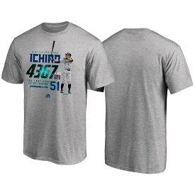 MLB マリナーズ イチロー Tシャツ 引退記念 Tee2 ジャパン マジェスティック/Majestic グレー