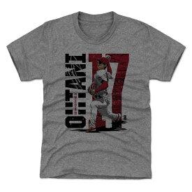 MLB エンゼルス 大谷翔平 Tシャツ Player Art Cotton 500Level グレー