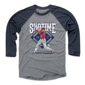大谷翔平 MLB エンゼルス Tシャツ Player Art Cotton ロングスリーブ 500Level ネイビー