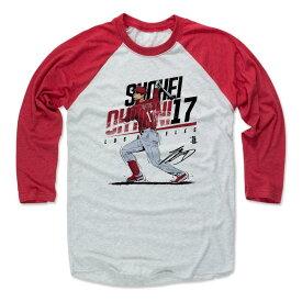 MLB エンゼルス 大谷翔平 Tシャツ Player Art Cotton ロングスリーブ 500Level レッド