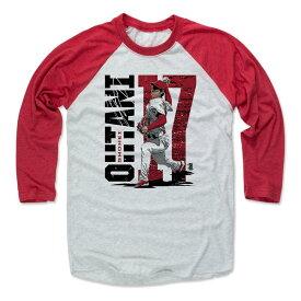 大谷翔平 MLB エンゼルス Tシャツ Player Art Cotton ロングスリーブ 500Level レッド