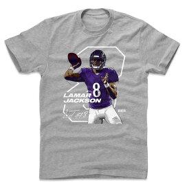 NFL レイブンズ ラマー・ジャクソン Tシャツ Player Art Cotton T-Shirt 500Level グレー