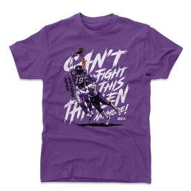 NFL バイキングス アダム・シーレン Tシャツ Player Art Cotton T-Shirt 500Level パープル【OCSL】