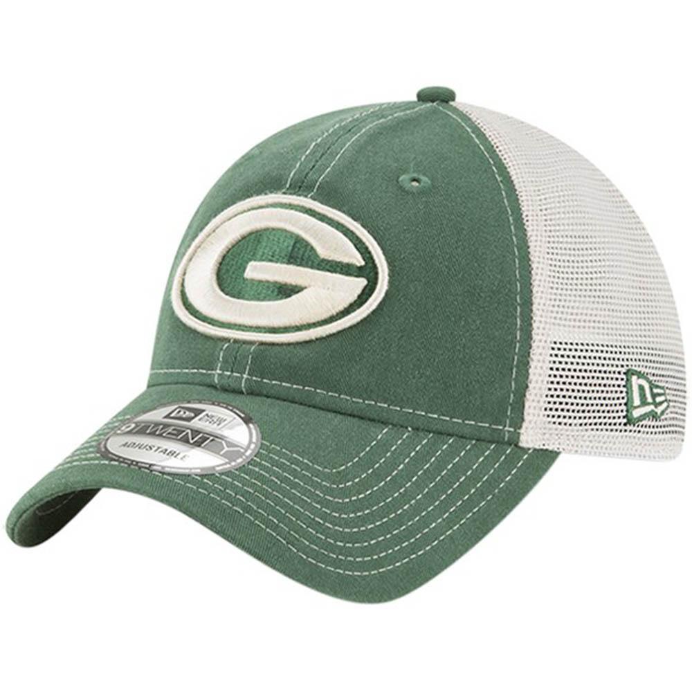 お取り寄せ NFL パッカーズ キャップ/帽子 ラスティック マーク トラッカー アジャスタブル ニューエラ/New Era グリーン