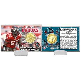 NFL デリック・ブルックス 2014 ホール オブ フェイム ブロンズ コイン カード The Highland Mint