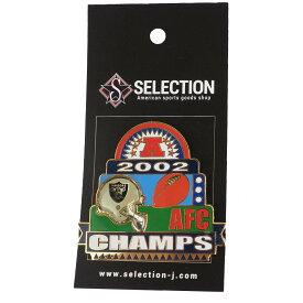 NFL レイダース 2002 AFC カンファレンス チャンピオンズ ピンバッチ【1910価格変更】