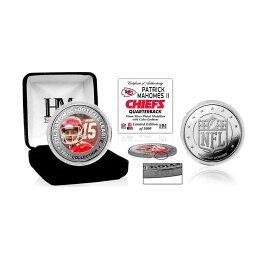 NFL チーフス パトリック マホームズ II カラー コイン ハイランドミント/The Highland Mint シルバー