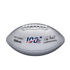 NFL ボール 100周年記念ロゴ入り メタリック Wilson ウィルソン