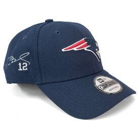 トム・ブレイディ キャップ/帽子 ペイトリオッツ NFL 9FORTY サイン刺繍入り アジャスタブル ニューエラ/New Era ネイビー