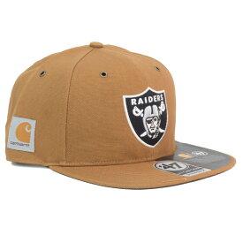 NFL レイダース キャップ/帽子 STRAP カーハート X 47 CAPTAIN 47Brand ブラウン