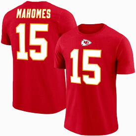 チーフス パトリック・マホームズ NFL Tシャツ ネーム&ナンバー エリジブルレシーバー3 マジェスティック/Majestic レッド【1910価格変更】
