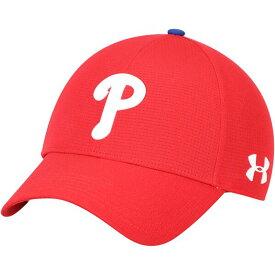 MLB フィラデルフィア・フィリーズ キャップ/帽子 ドライバーキャップ2.0 アジャスタブル アンダーアーマー/UNDER ARMOUR レッド