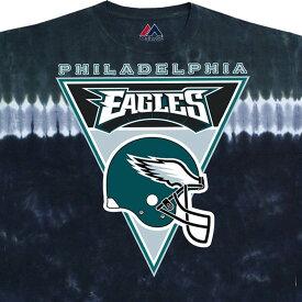 NFL フィラデルフィア・イーグルス Tシャツ ロゴバナー タイダイ染め【lb1910変更】