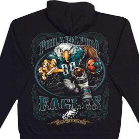 NFL フィラデルフィア・イーグルス パーカー/フーディー ランニングバック プルオーバー ブラック【lb1910変更】