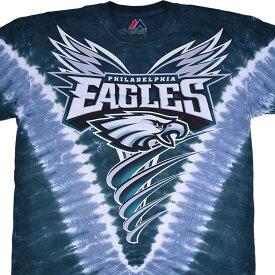 NFL フィラデルフィア・イーグルス Tシャツ V タイダイ染め【lb1910変更】