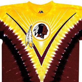 NFL ワシントン・レッドスキンズ Tシャツ V タイダイ染め【lb1910変更】