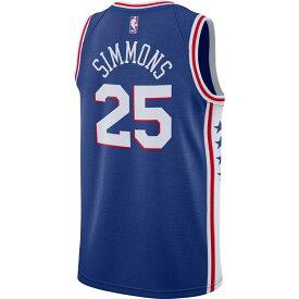 ベン・シモンズ フィラデルフィア・76ers NBA ユニフォーム/ジャージ 2019-20 スウィングマン ナイキ/Nike ロイヤル CJ7678-497