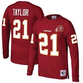 NFL ショーン・テイラー レッドスキンズ Tシャツ 引退選手 ネーム & ナンバー ロング ミッチェル&ネス/Mitchell & Ness バーガンディ【1911NFL変更】