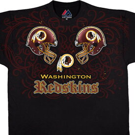 NFL レッドスキンズ Tシャツ フェイス オフ ブラック【OCSL】