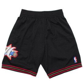 NBA フィラデルフィア・76ers ショートパンツ/ショーツ 2000-01 スウィングマン スローバック ショーツ Mitchell & Ness ブラック【1909プレミア】