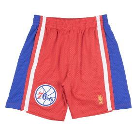 NBA フィラデルフィア・76ers ショートパンツ/ショーツ 1996-97 スウィングマン スローバック ショーツ Mitchell & Ness ロード【1909プレミア】