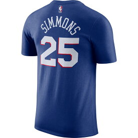 ベン・シモンズ Tシャツ フィラデルフィア・76ers NBA ネーム&ナンバー ナイキ/Nike ラッシュブルー BQ1561-496【NIKEJP】
