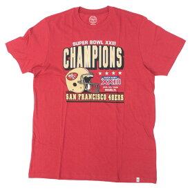 スーパーボウル進出 NFL 49ers Tシャツ スーパーボウル 23 チャンピオン 優勝 47Brand ワイン【1910価格変更】