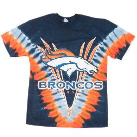 NFL ブロンコス Tシャツ V タイダイ 2サイド プレミアム マジェスティック/Majestic ネイビー【OCSL】